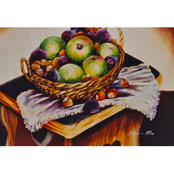 Basket of Apples 51x46cm- SOLD