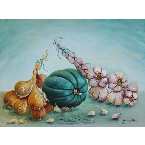 Blue Pumpkin 61x51cm- SOLD
