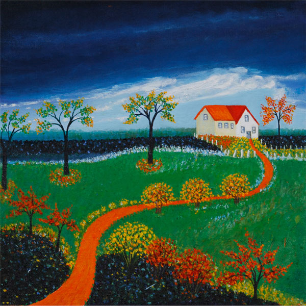 Farmhouse Storm 30x30cm- SOLD