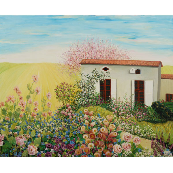 House of Flowers 110x100cm- SOLD