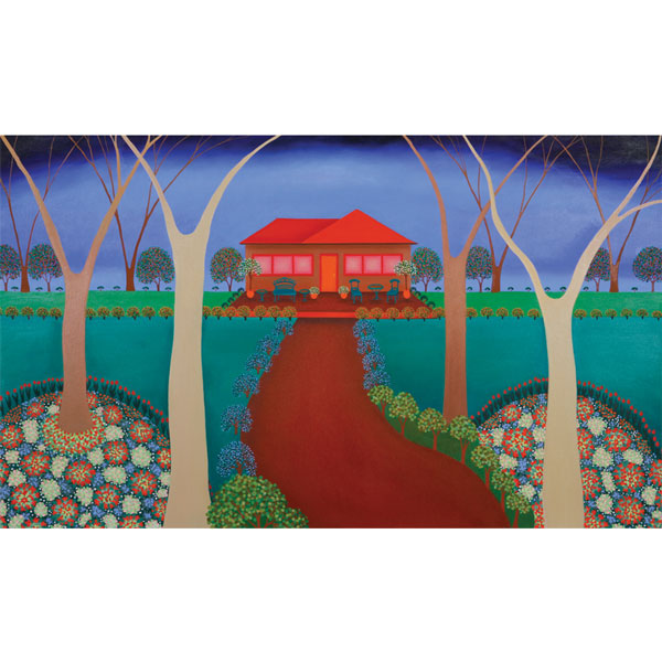 Flower House 120x90 - ORIGINAL SOLD- PRINTS Available on Canvas  $650