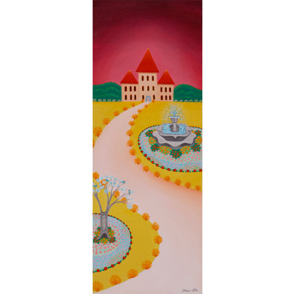 French Castle 30x80cm- SOLD