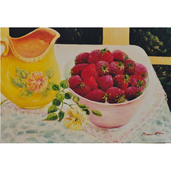 Fresh Strawberries 61x46cm- SOLD