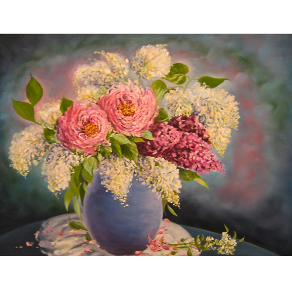 Lilacs and Peonies 76x63cm-  SOLD