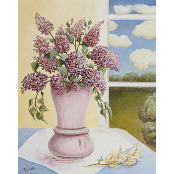 Lilacs with White Clouds 62x76cm $1,800