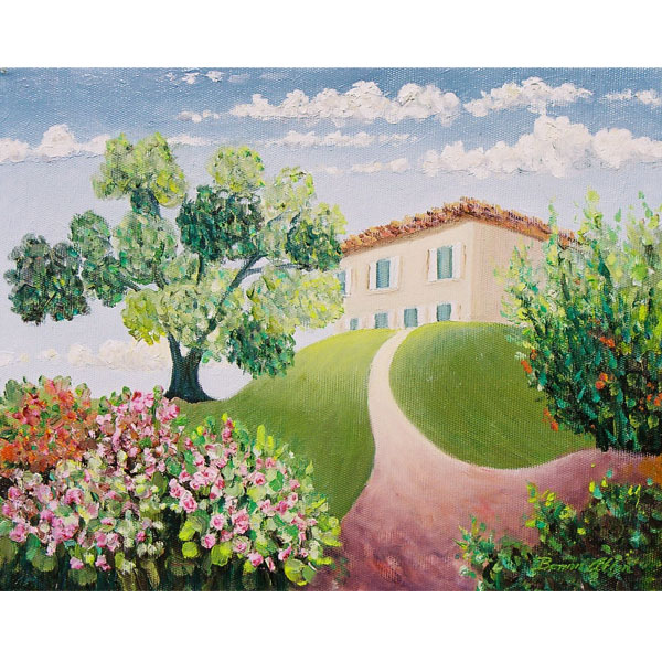 My House in France 30x24cm- SOLD