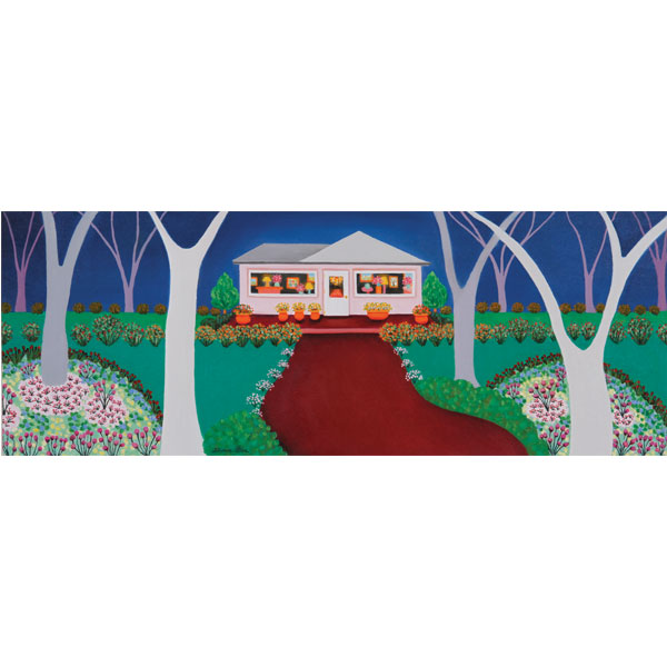 Pink Garden House 60x30cm - SOLD