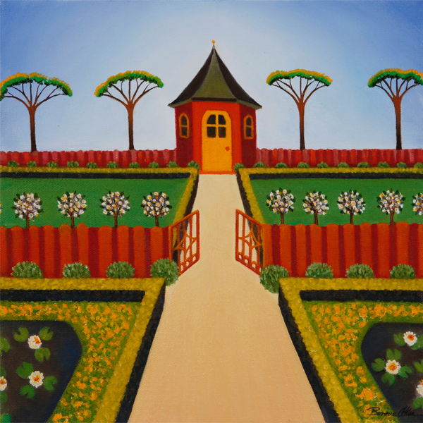 Red Garden House 30x30cm - SOLD