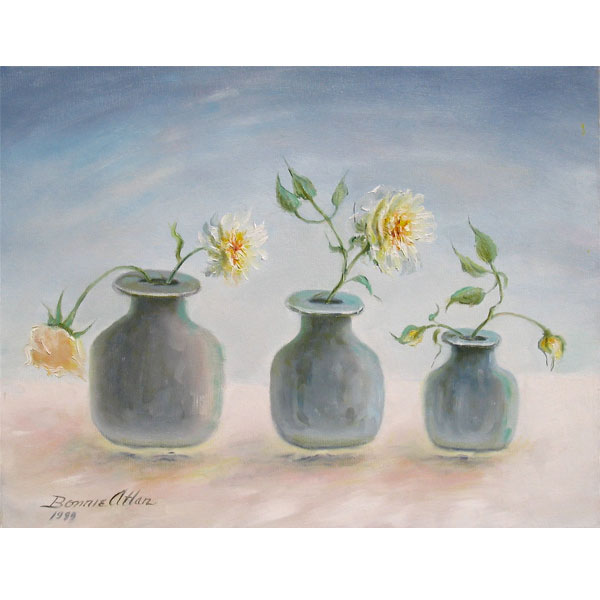 Three Grey Pots 25x20cm- SOLD