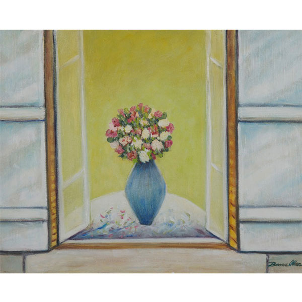Vase in the Window 24x20cm- SOLD