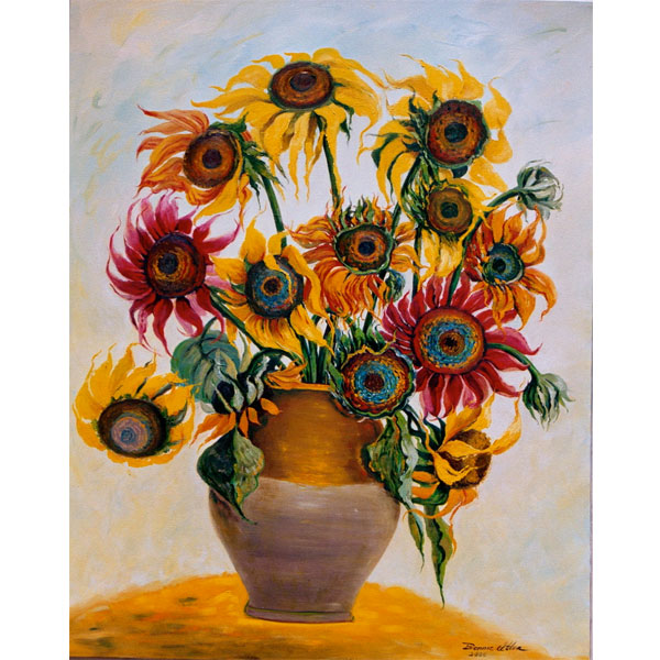 Vibrant Sunflowers 51x61cm -SOLD