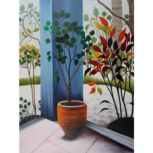 Patio Garden 76x102cm $3,500