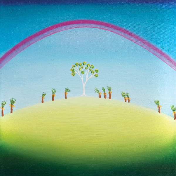 Rainbow Tree 30 x 30- SOLD