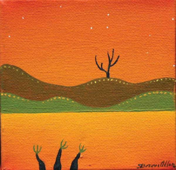 Night Souls 10 x 10cm - $350
