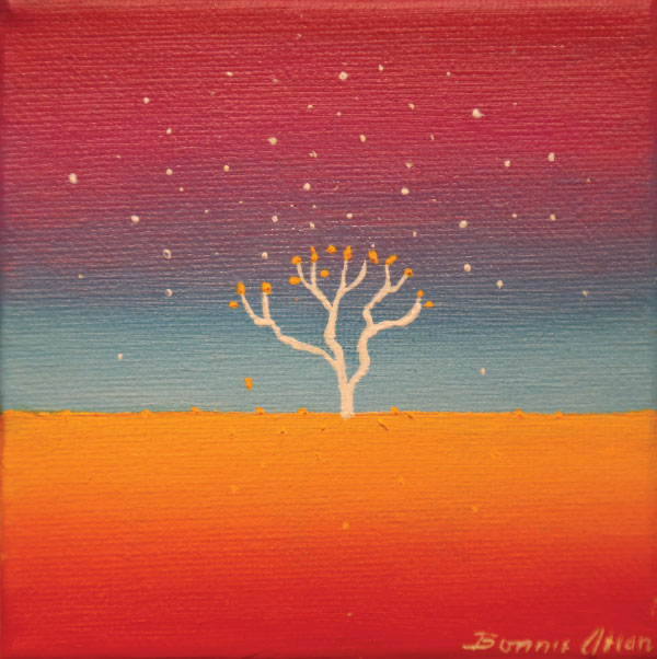 White Tree 10 x 10cm - SOLD