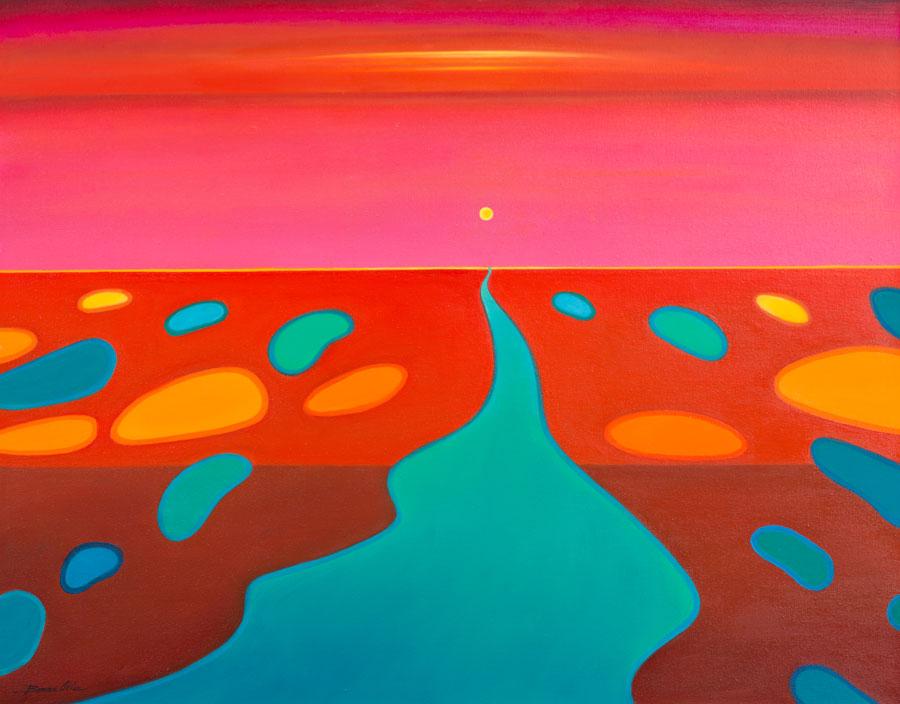 Follow the Sun 120 x 100cm - $4,900