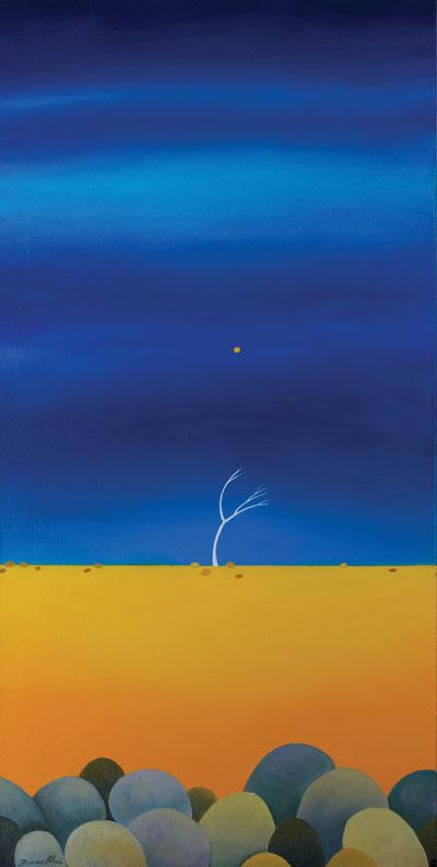 Yellow Moon - 40 x 80cm - SOLD