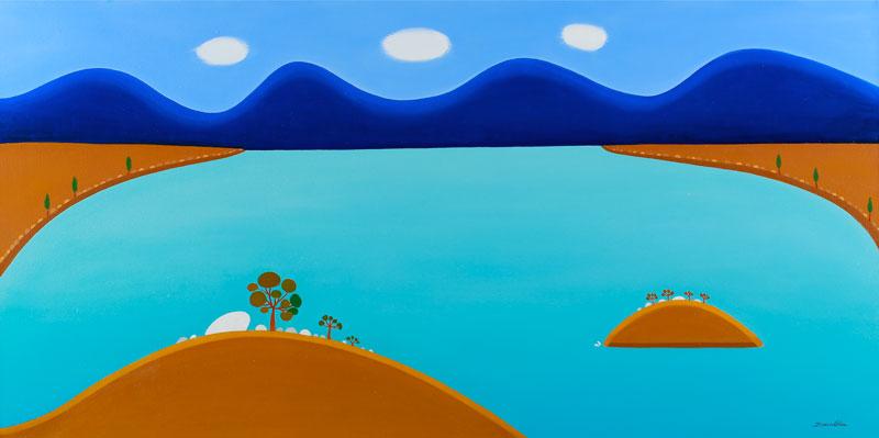 Blue Lake 120 x 60cm -