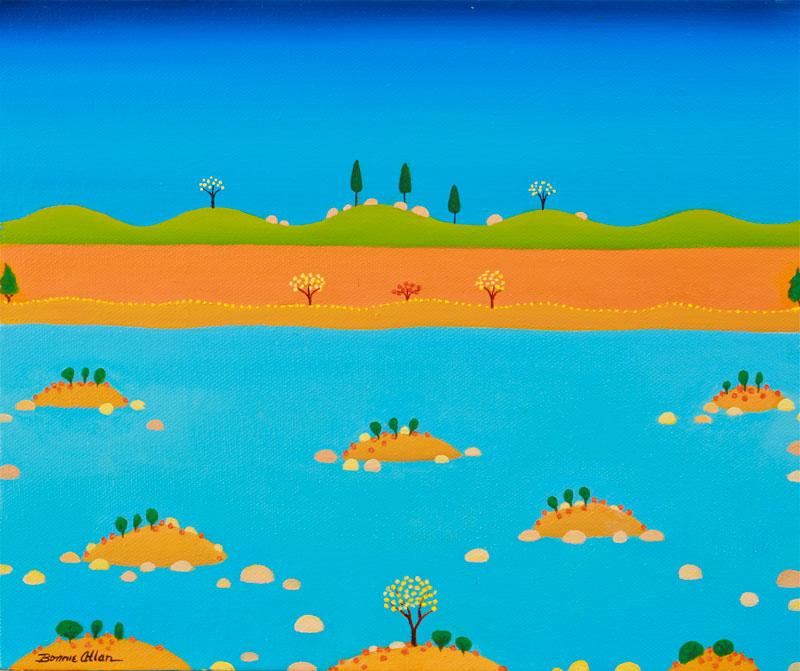 Little Islands 30 x 30cm - SOLD