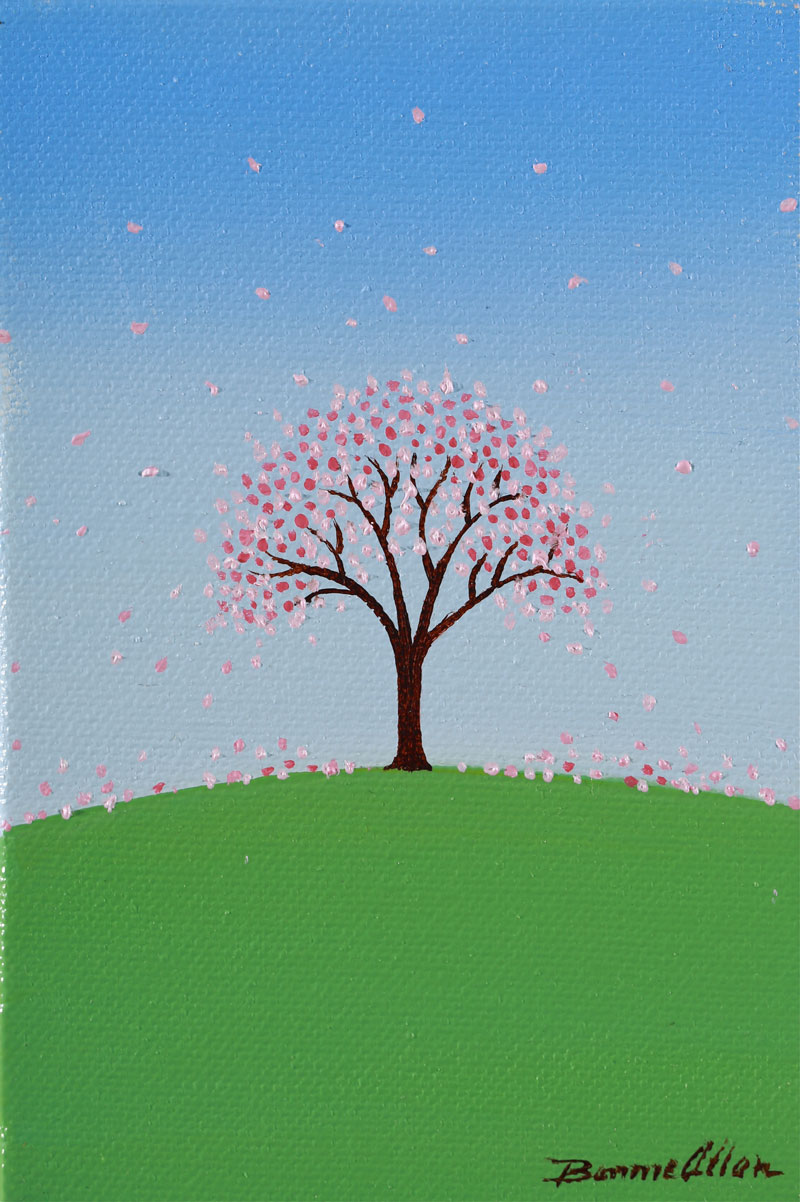 Pink Tree - 10 x 15cm - SOLD