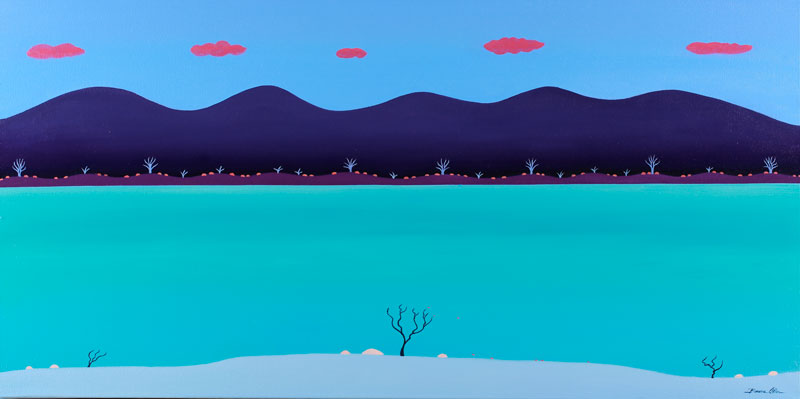 Purple Mountains 120 x 60cm - SOLD