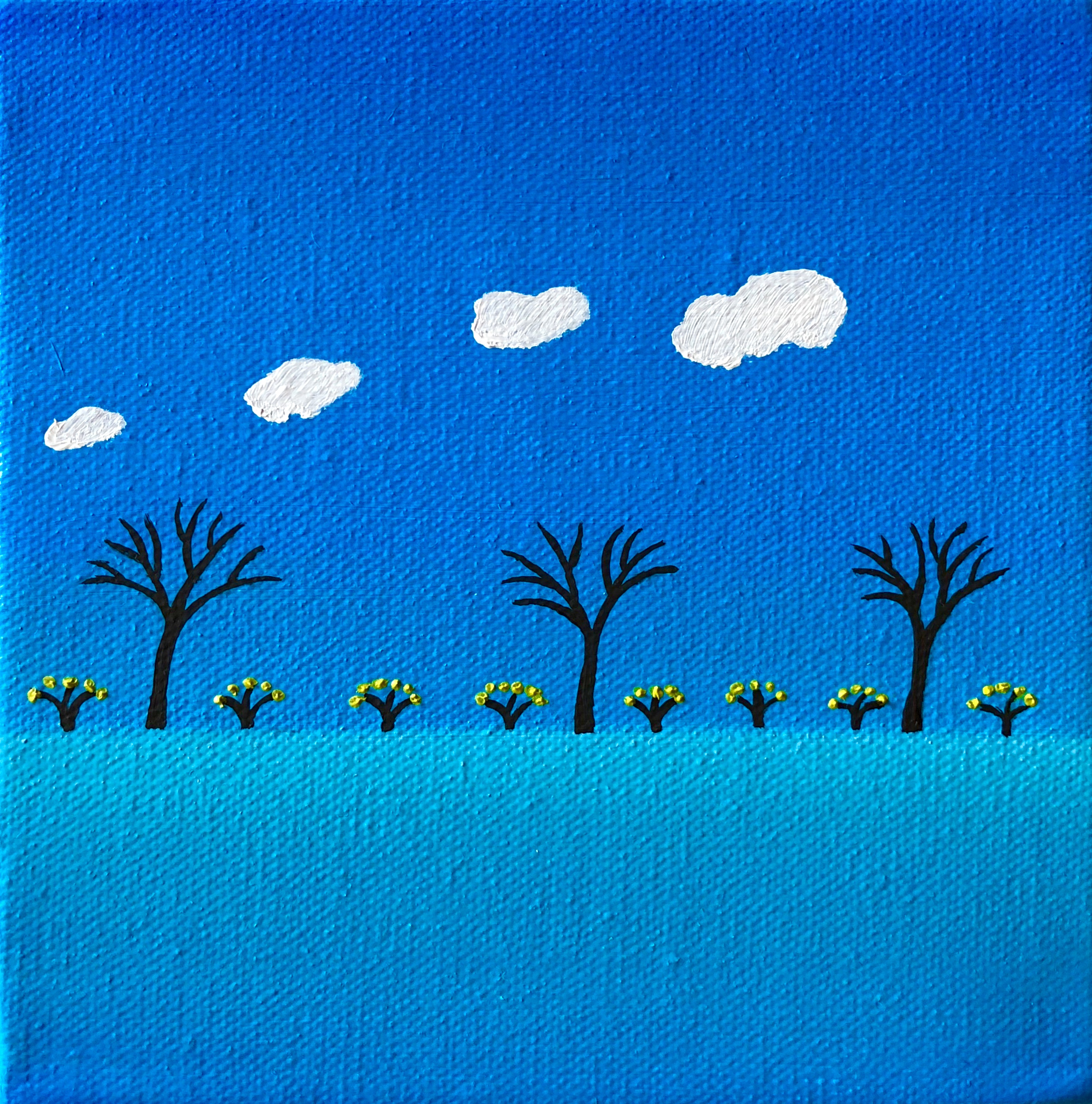 White Clouds-10 x 10 - Jah Roc Gallery