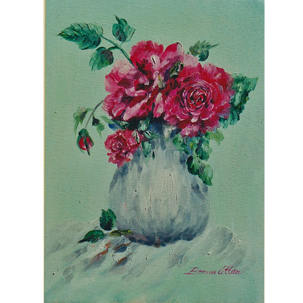 Little Bouquet of Roses 15x20cm- SOLD