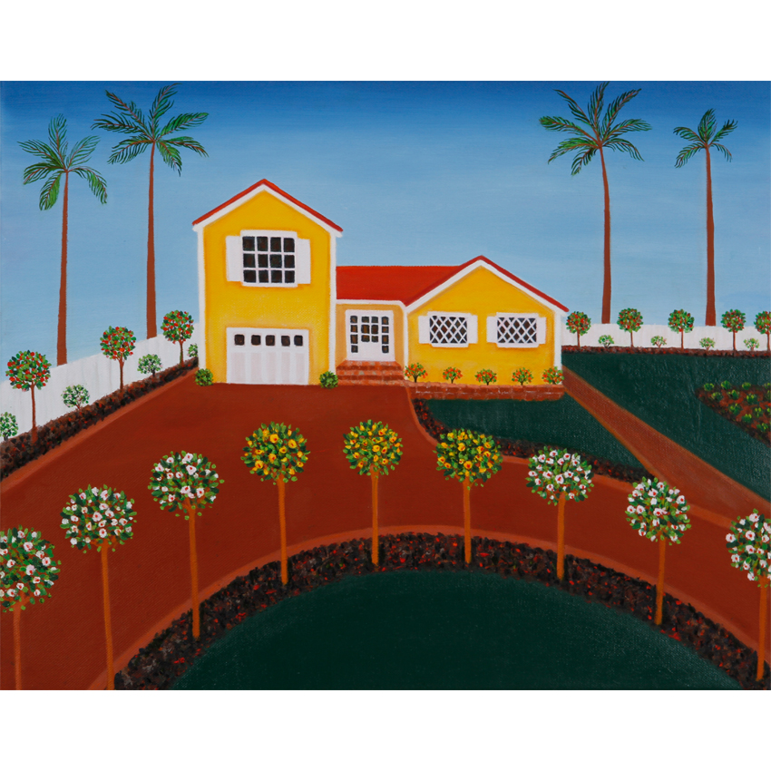 Californian House 60x50cm Artist's Collection