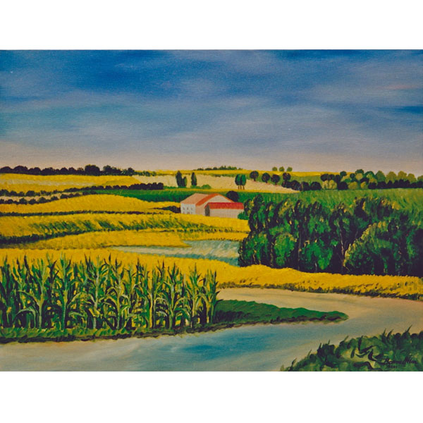 Corn Fields 61x46cm- SOLD
