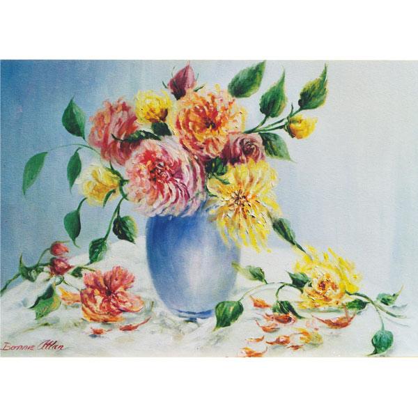 Cottage Bouquet 36x30cm- SOLD