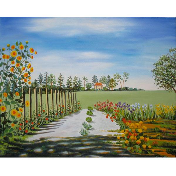 Denise's Garden 76x62cm - SOLD