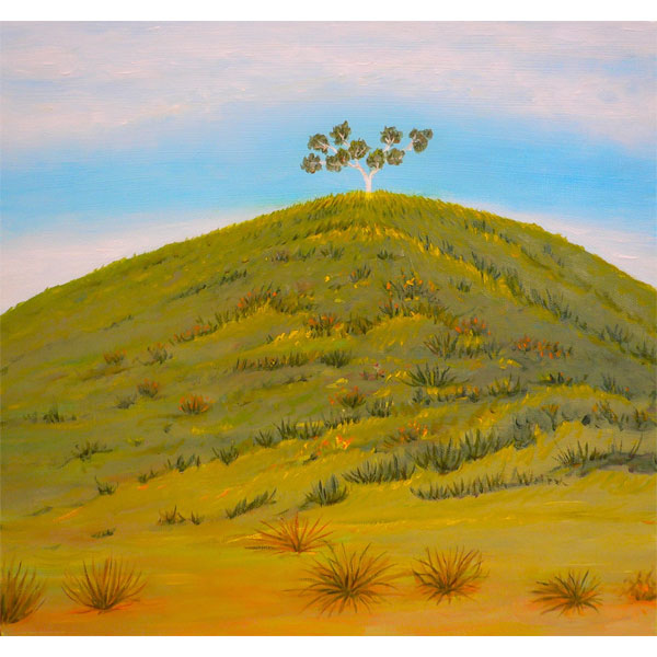 Hill With Tree-24x24cm- SOLD