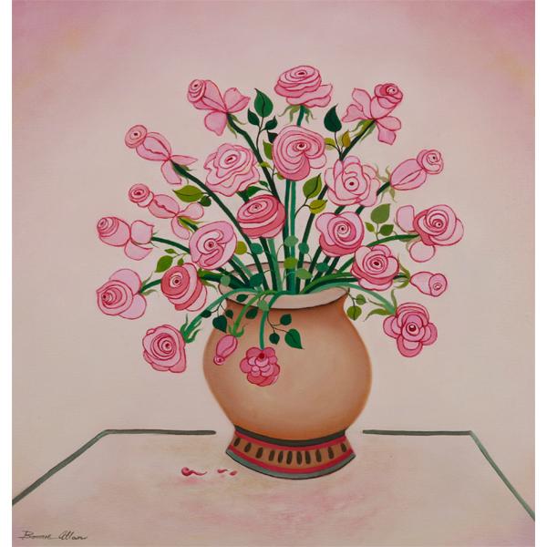 Dancing Roses 60x60cm - $850