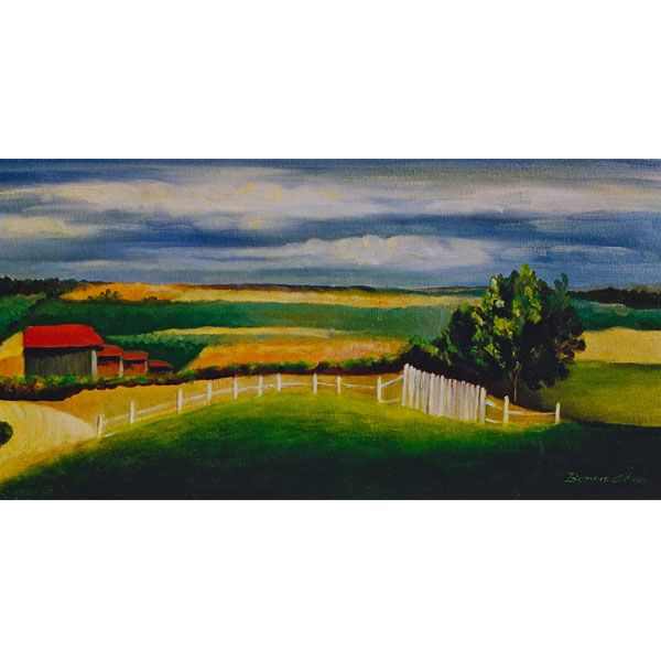 Nearby Farm House 15x30cm- SOLD