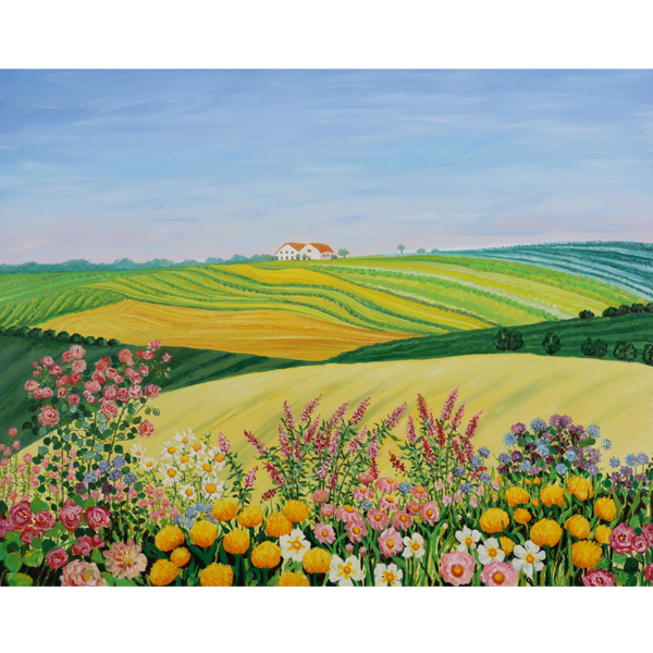 Pastel Hills 92x71cm Artist's Collection