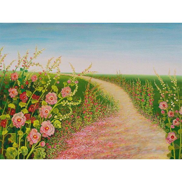 Pink Petal Path 200x100cm - SOLD