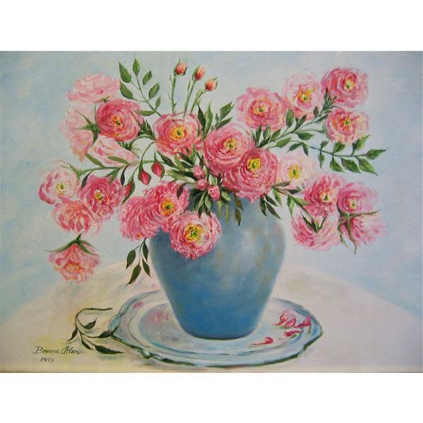 Pink Pom Pom Roses - SOLD