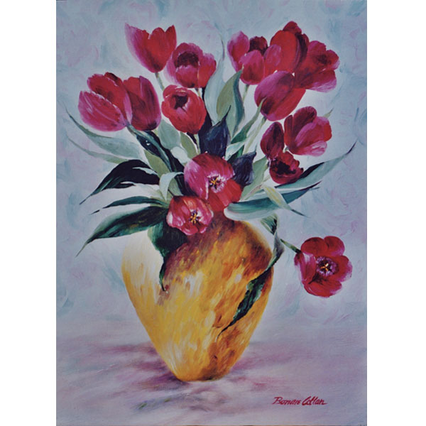 Red Tulips 26x36cm- SOLD