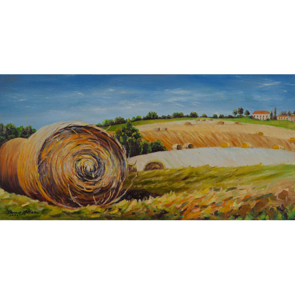 Rolling Hay 40x20cm- SOLD