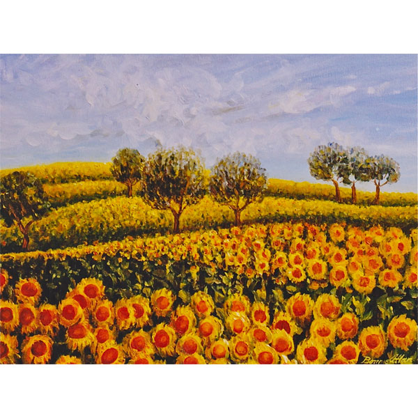 Sunflower Hills 51x46cm - SOLD