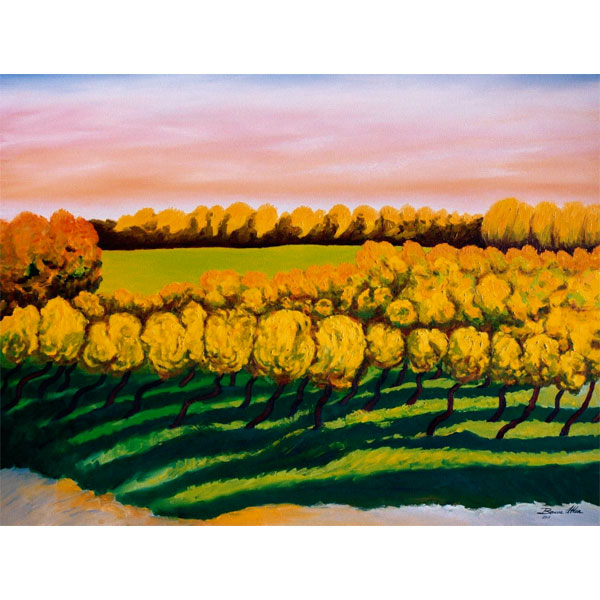 Sunset Vines 76x61cm- SOLD