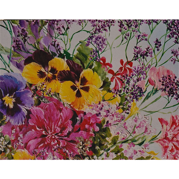Tapestry of Flowers 40x30cm- SOLD