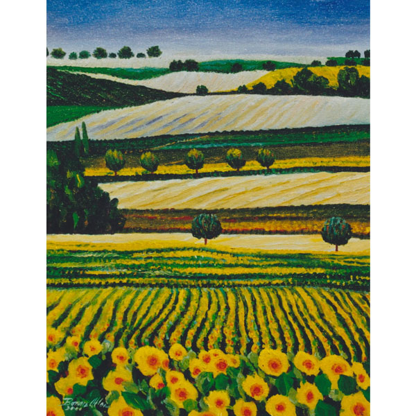 White Fields 46x61cm- SOLD