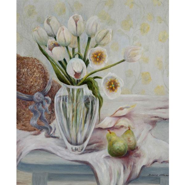 White Tulips 46x61cm- SOLD