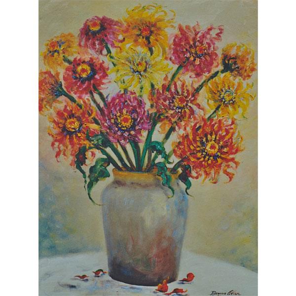 Wild Zinnia Bouquet 36x46cm- SOLD
