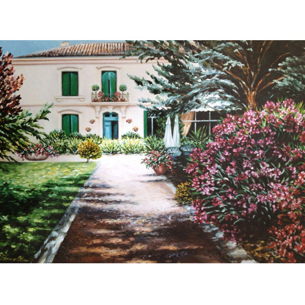 My Neighbours House in France 61x51cm-  SOLD