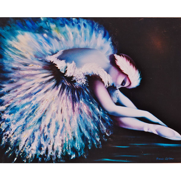 Blue Swan Lake 102x95cm- SOLD