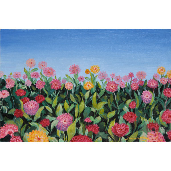 Dancing Flowers 15x30cm- SOLD