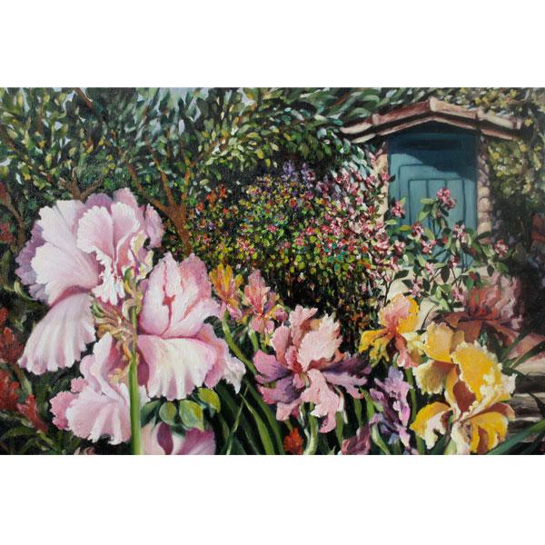 Detail of Pink Iris- SOLD
