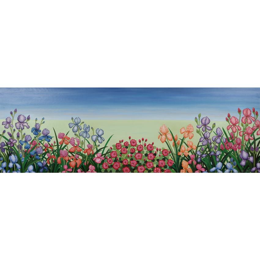 Iris Parade 182x62cm - $4,500